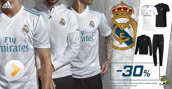 Real Madrid textil termékek 30-64% kedvezménnyel a BL elödöntők visszavágójáig