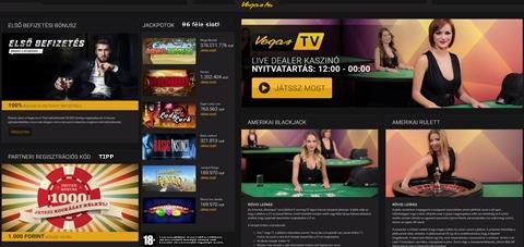 Vegas kaszinó, az első legális online kaszinó magyaroknak, izgalmas bónuszokkal, csinos élő dealerekkel!