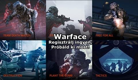 Warface : izgalmas F2P online katonai FPS játék, ingyenes regisztrációval!