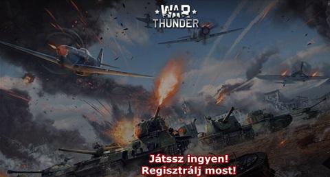 Regisztrálj ingyen a Warthunder játékra!